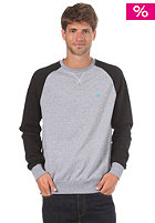 LAKEVILLE MOUNTAIN Raglan Crewneck Sweatshirt heather grey/black/cyan