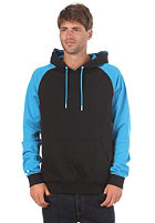 LAKEVILLE MOUNTAIN Raglan Hooded Sweat black/cyan