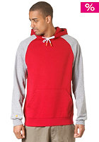 LAKEVILLE MOUNTAIN Raglan Hooded Sweat chilly red/grey heather