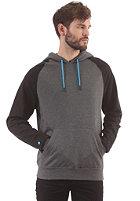 LAKEVILLE MOUNTAIN Raglan Hooded Sweat dark grey heather/black/cyan