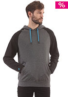 LAKEVILLE MOUNTAIN Raglan Hooded Sweat dark grey heather/black/cyan
