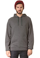 LAKEVILLE MOUNTAIN Raglan Hooded Sweat dark grey heather/black