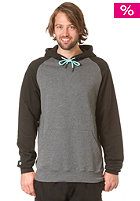 LAKEVILLE MOUNTAIN Raglan Hooded Sweat dark grey heather/mint