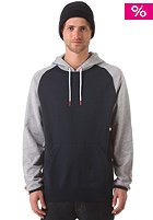 LAKEVILLE MOUNTAIN Raglan Hooded Sweat grey heather/deep navy