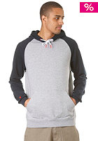 LAKEVILLE MOUNTAIN Raglan Hooded Sweat grey heather/navy