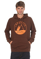LAKEVILLE MOUNTAIN Raglan Logo 1.0 Hooded Sweat brown/orange