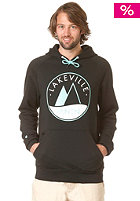 LAKEVILLE MOUNTAIN Raglan Premium Logo Hooded Sweat black/mint
