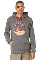 LAKEVILLE MOUNTAIN Raglan Premium Logo Hooded Sweat dark grey heather/chilly red
