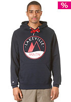 LAKEVILLE MOUNTAIN Raglan Premium Logo Hooded Sweat navy/red
