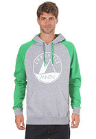 LAKEVILLE MOUNTAIN Raglan Two Tone Logo 1.0 Hooded Sweat heather grey/green/white