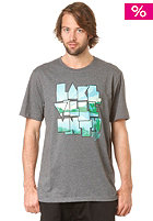 LAKEVILLE MOUNTAIN Rise & Shine S/S T-Shirt dark grey heather/kelly green