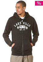 LAKEVILLE MOUNTAIN Tree Love Hooded Zip Sweat black/white