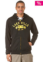 Tree Love Hooded Zip Sweat black/yellow