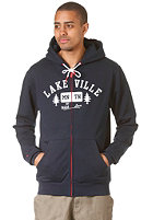 LAKEVILLE MOUNTAIN Tree Love Hooded Zip Sweat navy heather/white