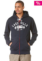 Tree Love Hooded Zip Sweat navy heather/white
