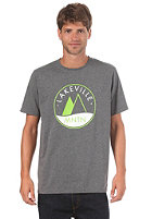 LAKEVILLE MOUNTAIN Two Tone Logo 1.0 S/S T-Shirt dark grey heather/lime/white