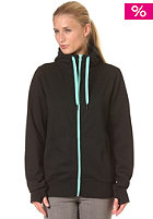 Womens Basic Hooded Sweat Zip Sweat black/mint