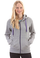 LAKEVILLE MOUNTAIN Womens Basic Hooded Sweat Zip Sweat grey heather/purple