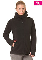 LAKEVILLE MOUNTAIN Womens Fleece Hooded Zip Sweat solid black
