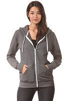 LAKEVILLE MOUNTAIN Womens Plain Hooded Zip Sweat dark grey heather/white