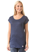LAKEVILLE MOUNTAIN Womens Plain Loose S/S T-Shirt navy heather