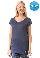 Womens Plain Loose S/S T-Shirt navy heather
