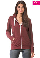LAKEVILLE MOUNTAIN Womens Plain maroon heather/white