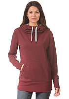 LAKEVILLE MOUNTAIN Womens Tube Hooded Sweat maroon heather