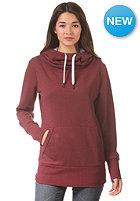 LAKEVILLE MOUNTAIN Womens Tube Hooded Sweat maroon heather