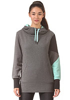 LAKEVILLE MOUNTAIN Womens Zig Zag Hooded Sweat dark grey heather/aqua
