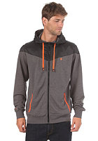 LAKEVILLE MOUNTAIN Yoke Premium Hooded Zip dark grey heather/black/orange