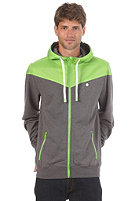 LAKEVILLE MOUNTAIN Yoke Premium Hooded Zip dark grey heather/lime/white