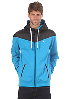 LAKEVILLE MOUNTAIN Yoke Premium Hooded Zip Sweat black/cyan
