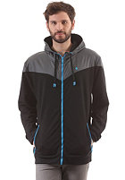 LAKEVILLE MOUNTAIN Yoke Premium Hooded Zip Sweat black/dark grey/cyan