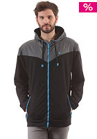 Yoke Premium Hooded Zip Sweat black/dark grey/cyan