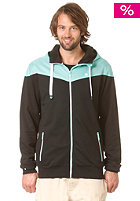 LAKEVILLE MOUNTAIN Yoke Premium Hooded Zip Sweat black/mint
