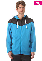 LAKEVILLE MOUNTAIN Yoke Premium Hooded Zip Sweat cyan/black/cyan