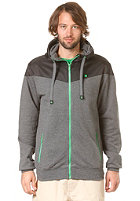 LAKEVILLE MOUNTAIN Yoke Premium Hooded Zip Sweat dark grey heather/black/kelly green