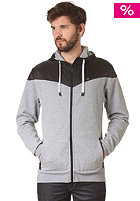 Yoke Premium Hooded Zip Sweat grey heather/black