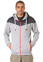 LAKEVILLE MOUNTAIN Yoke Premium Hooded Zip Sweat grey heather/navy/red