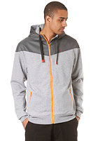 LAKEVILLE MOUNTAIN Yoke Premium Hooded Zip Sweat heather grey/grey/orange