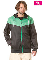LAKEVILLE MOUNTAIN Yoke Premium Ripstop Windbreaker black/kelly green