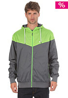 LAKEVILLE MOUNTAIN Yoke Premium Ripstop Windbreaker dark grey/lime