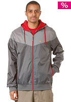 LAKEVILLE MOUNTAIN Yoke Premium Ripstop Windbreaker grey/dark grey/bordeaux