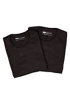 LEVIS 2 Pack Crew Neck S/S T-Shirt black/black 59