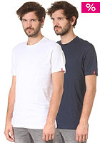 LEVIS 2 Pack Crew Neck Slim Fit S/S T-Shirt navy blue/white
