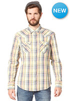 LEVIS Barstow Western L/S Shirt basil plaid ensign blue earthsea madras