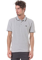 LEVIS Pique S/S Polo Shirt htr grey w/black tipping