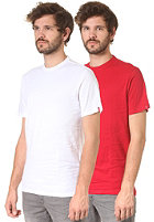 LEVIS Rt Slim 2 Pack Crew S/S T-Shirt jester red/white
