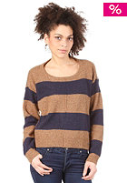 LEVIS Womens Rugby Stripe Crewneck S/S T-Shirt bronze w/ night